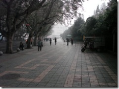 Pavement on north side of Renmin Park, Chengdu