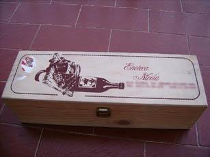 Decoupage su scatola di legno
