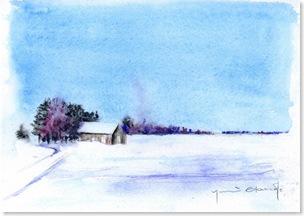 0901雪の景色小屋